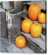 Pumpkin Autumn In Adirondacks Acrylic Print by Kate  Leikin