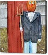 Pumpkin Farmer Acrylic Print
