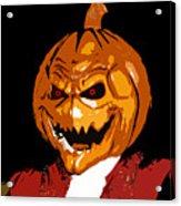 Pumpkin Head Acrylic Print