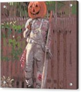Pumpkin Scarecrow Acrylic Print