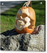 Pumpkin Skull Acrylic Print