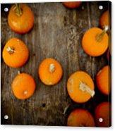 Pumpkin Tops Acrylic Print