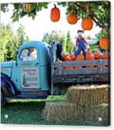 Pumpkin Truck Acrylic Print