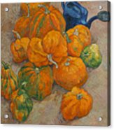 Pumpkins And Watering Can Acrylic Print