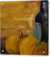 Pumpkins And Wine  Acrylic Print by Steve Jorde