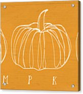 Pumpkins- Art By Linda Woods Acrylic Print
