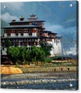 Punakha Dzong Acrylic Print