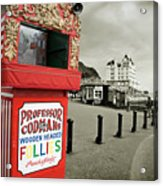 Punch And Judy Theatre On Llandudno Promenade Acrylic Print