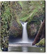 Punch Bowl Falls At Eagle Creek Closeup Acrylic Print