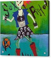 Punk Rocks Her Acrylic Print