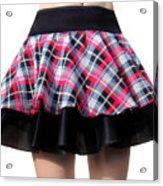 Punk Style Mini Skirt - Ameynra Fashion Acrylic Print