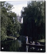 Punters Glide Past Trinity College Acrylic Print