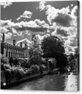 Punting, Cambridge. Acrylic Print