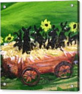 Pups First Hayride Upclose Acrylic Print
