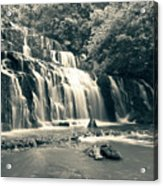 Purakanui Falls New Zealand Acrylic Print