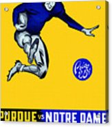 Purdue V Notre Dame 1947 Program Acrylic Print