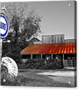 Pure Gas Station Acrylic Print