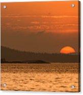 Pure Golden Sunset Acrylic Print