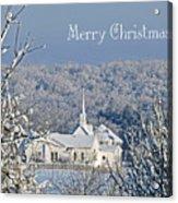 Pure White Christmas Acrylic Print