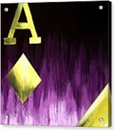 Purple Aces Poker Art2of4 Acrylic Print