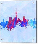 Purple And Blue New York Skyline Acrylic Print