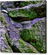 Purple And Green Rock Acrylic Print