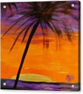 Purple And Orange Sky Acrylic Print by Marie Bulger
