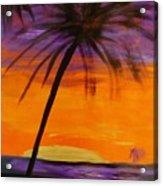 Purple And Orange Sky Acrylic Print by Marie Bulger