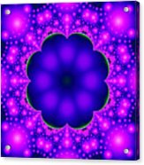 Purple And Pink Glow Fractal Acrylic Print