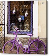 Purple Bicycle Acrylic Print