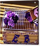 Purple Birdhouses 1 Acrylic Print
