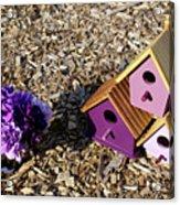 Purple Birdhouses 2 Acrylic Print