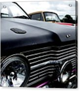 Purple, Black And Chrome Acrylic Print