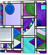 Purple-blue-green Abstract 3 Acrylic Print