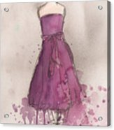 Purple Bow Dress Acrylic Print by Lauren Maurer
