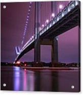 Purple Bridge Acrylic Print