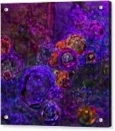 Purple Bubbles Painting Acrylic Print