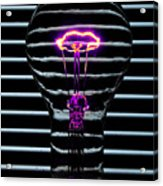 Purple Bulb Acrylic Print