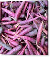 Purple Carrots Number 1 Acrylic Print