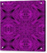 Purple Crossed Arrows Abstract Acrylic Print