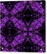 Purple Crosses Connecting Acrylic Print