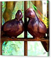 Purple Doves 2 Acrylic Print