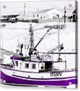 Purple Fishing Boat Acrylic Print