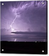 Purple Flames - Lightning On The Great Plains Acrylic Print
