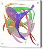 Purple Flight Acrylic Print