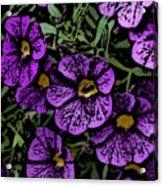 Purple Floral Fantasy Acrylic Print