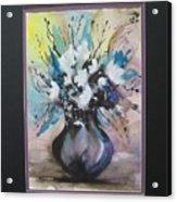 Purple Floral Acrylic Print