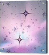 Purple Galaxy Acrylic Print
