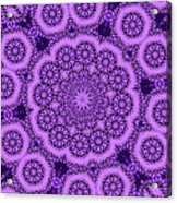 Purple Geek Kaleidoscope Five Acrylic Print
