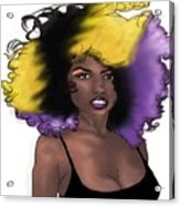 Purple Girl Acrylic Print